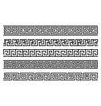 greek roman pattern border decorative ornament vector image