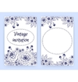 Greeting card with marigolds Floral template vector image vector image