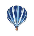 hand drawn sketch hot air balloon in color vector image vector image
