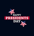 happy presidents day festive for greeting card vector image vector image