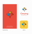 heart and star balloons company logo app icon and vector image vector image