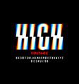 high voltage style font design alphabet letters vector image vector image