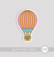 hot air balloon icon summer vacation vector image vector image
