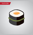 isolated gourmet flat icon sushi element vector image