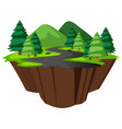 isolated island of nature road vector image vector image