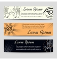 Isoteric banners set with alchemy elements vector image vector image