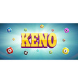keno lottery balls and place for text vector image vector image