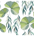 lily willow branches seamless pattern background vector image vector image