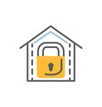 lock icon flat and line modern vector image vector image
