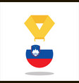 medal with the slovene flag isolated on white vector image vector image