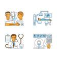 medical centre website vector image