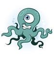 octopus squid monster cartoon vector image