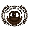 oktoberfest traditional festival emblem design vector image