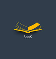 open book in paper style vector image vector image