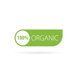 organic sign green vector image vector image