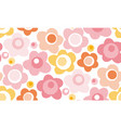pastel baby style floral seamless pattern vector image