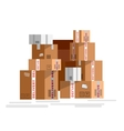 Pile of stacked sealed goods vector image