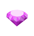 Purple Diamond Isolated on White Background vector image
