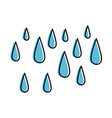 rain drops isolated icon vector image