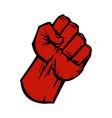 raised fist icon vector image vector image