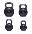 realistic 3d detailed gym kettlebell set vector image vector image