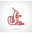 Red line tattoo machine icon vector image vector image