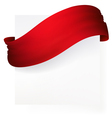 red ribbon banner drawing vector image vector image