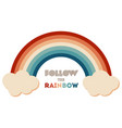 retrowave 80s art retro rainbow vector image vector image