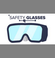 safety glasses industrial glasses icon vector image