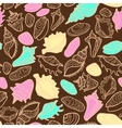 seamless pattern with cute seashells vector image vector image