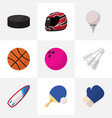 set of 9 editable lifestyle flat icons includes vector image