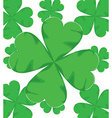 shamrock for St Patrick Day vector image vector image