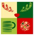 sketch christmas icon set vector image