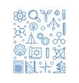stem concept blue linear or vector image