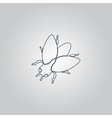 Stencil flies icon sign and button vector image vector image