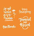 thanks giving collection vector image vector image