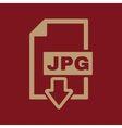The JPG icon File format symbol Flat vector image vector image