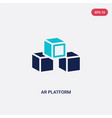 two color ar platform icon from general-1 concept vector image vector image