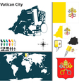 Vatican City map vector image vector image
