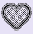 vintage lace heart frame feminine luxury element vector image vector image