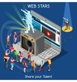 Webstars 01 People Isometric vector image vector image