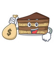 with money bag tiramisu character cartoon style vector image vector image