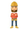 Worker standing with crossed arms vector image