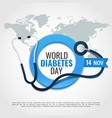 world diabetes day vector image vector image
