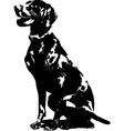 german pointer silhouette vector image
