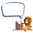 A lion in the library with an empty callout vector image vector image