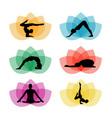 A set of yoga and meditation symbols vector image vector image