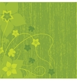 Abstract background with green flowers vector | Price: 1 Credit (USD $1)