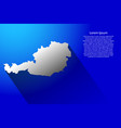 abstract map of austria with long shadow vector image vector image
