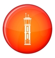 Airport control tower icon flat style vector image vector image